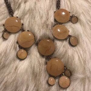 Beautiful brown stone necklace.